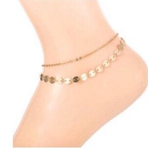 Delicate Gold Double Chain Ankle Bracelet